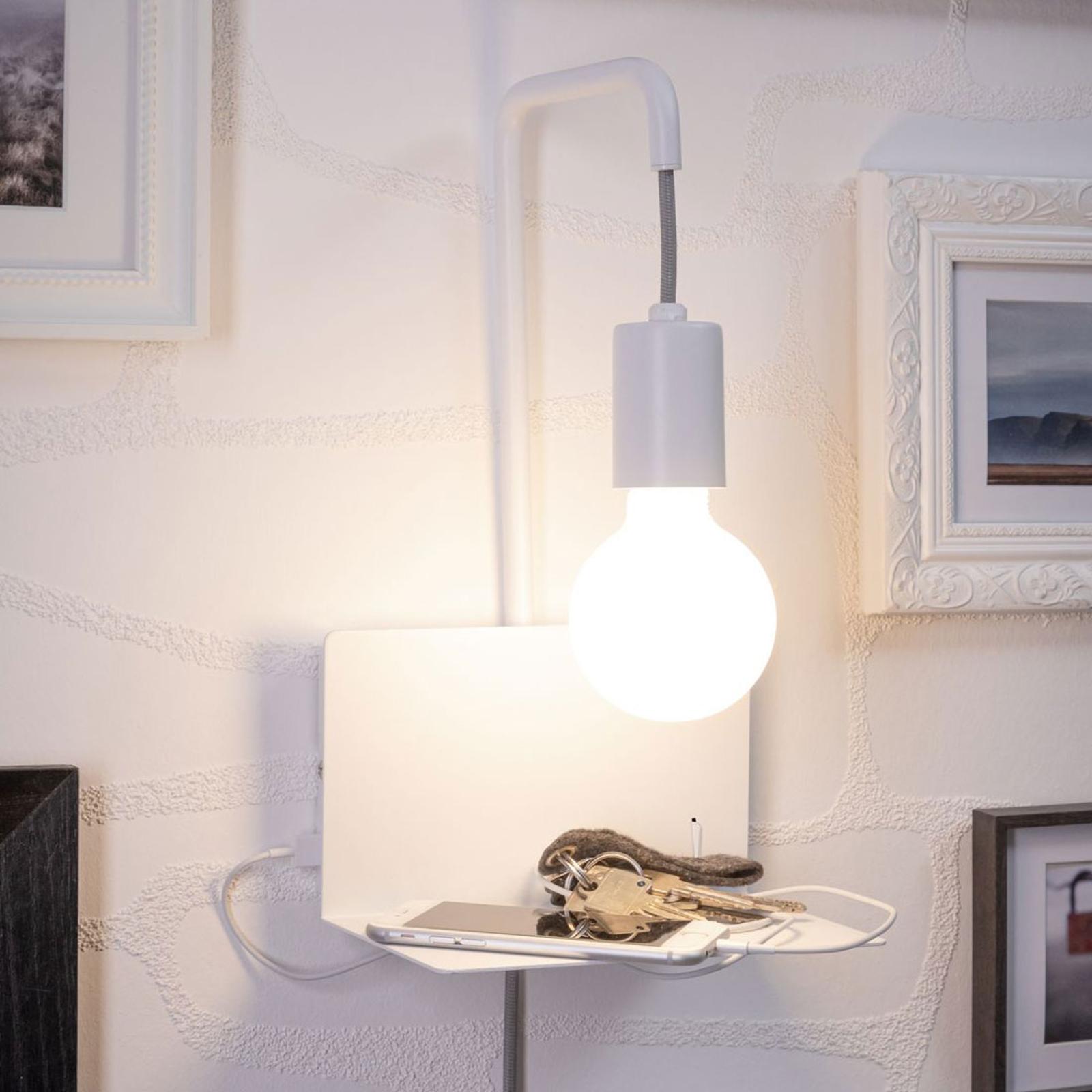 Paulmann Calvani wandlamp met legbord