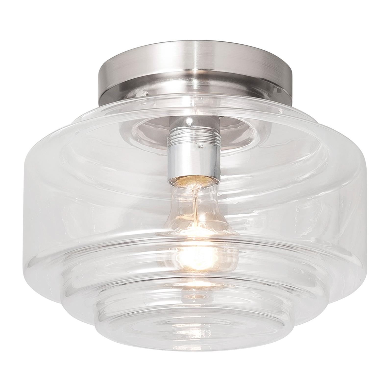 Cambridge - plafondlamp met mooie glazen kap