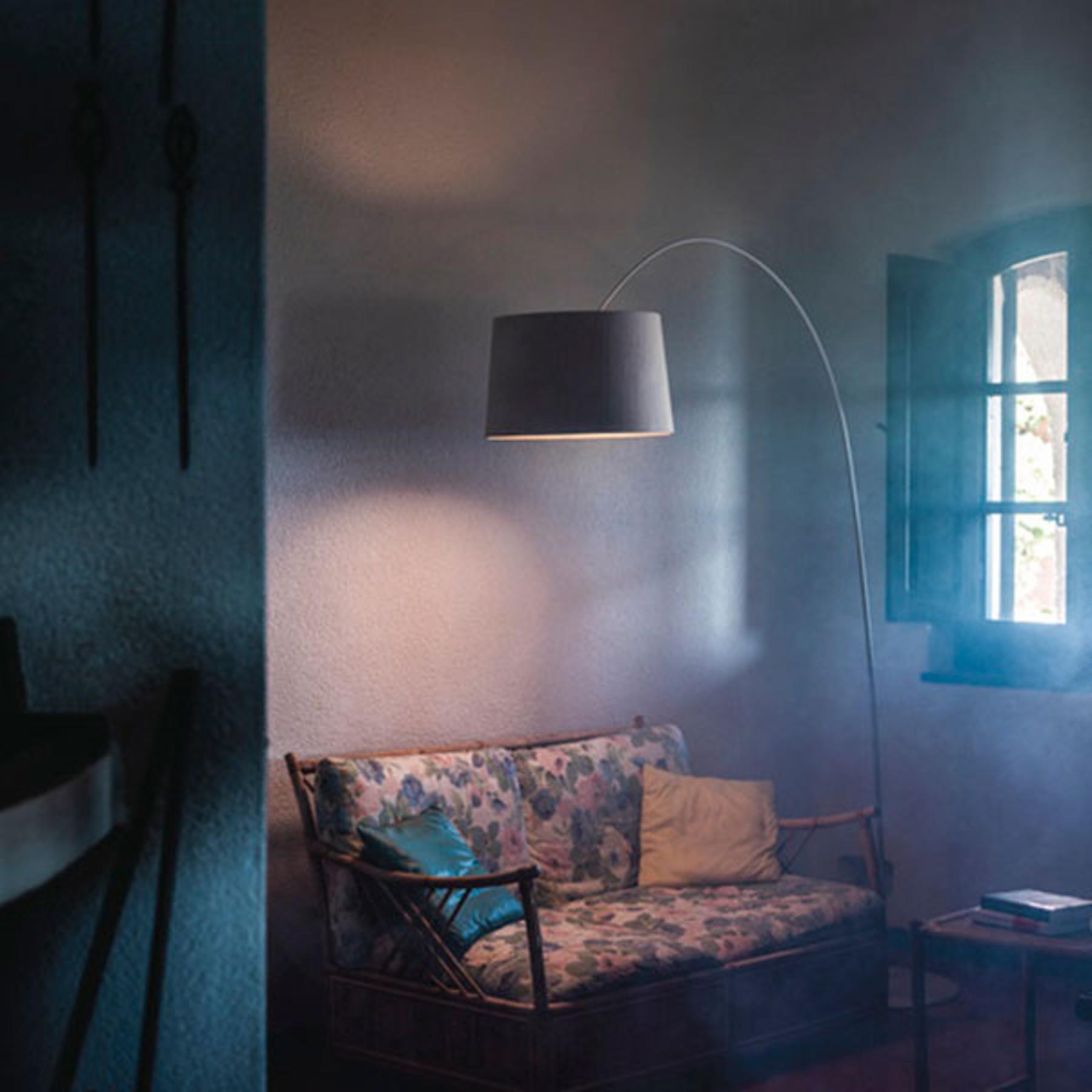 Foscarini Twiggi Wood LED-Stehleuchte greige
