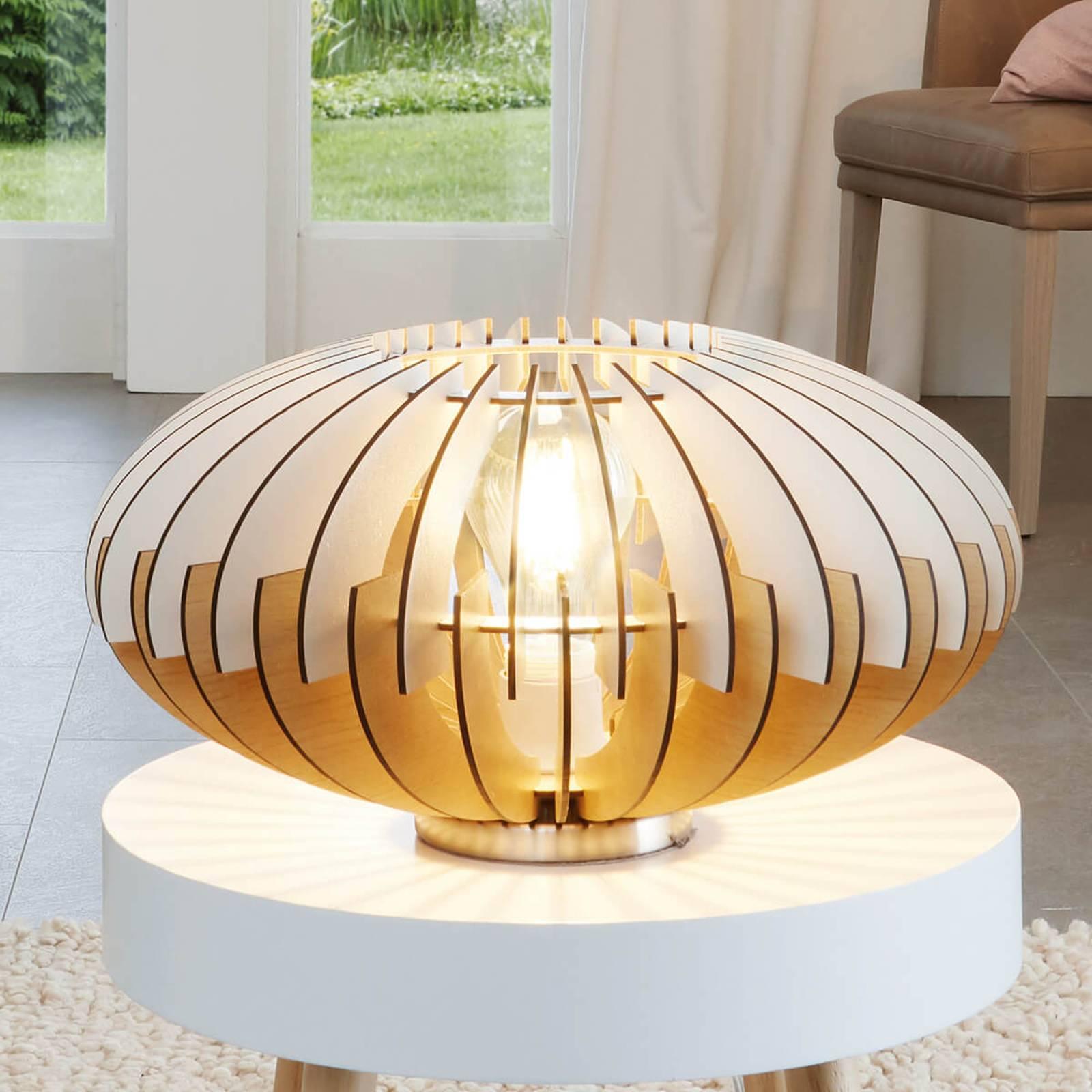 Decoratieve tafellamp Sotos van hout