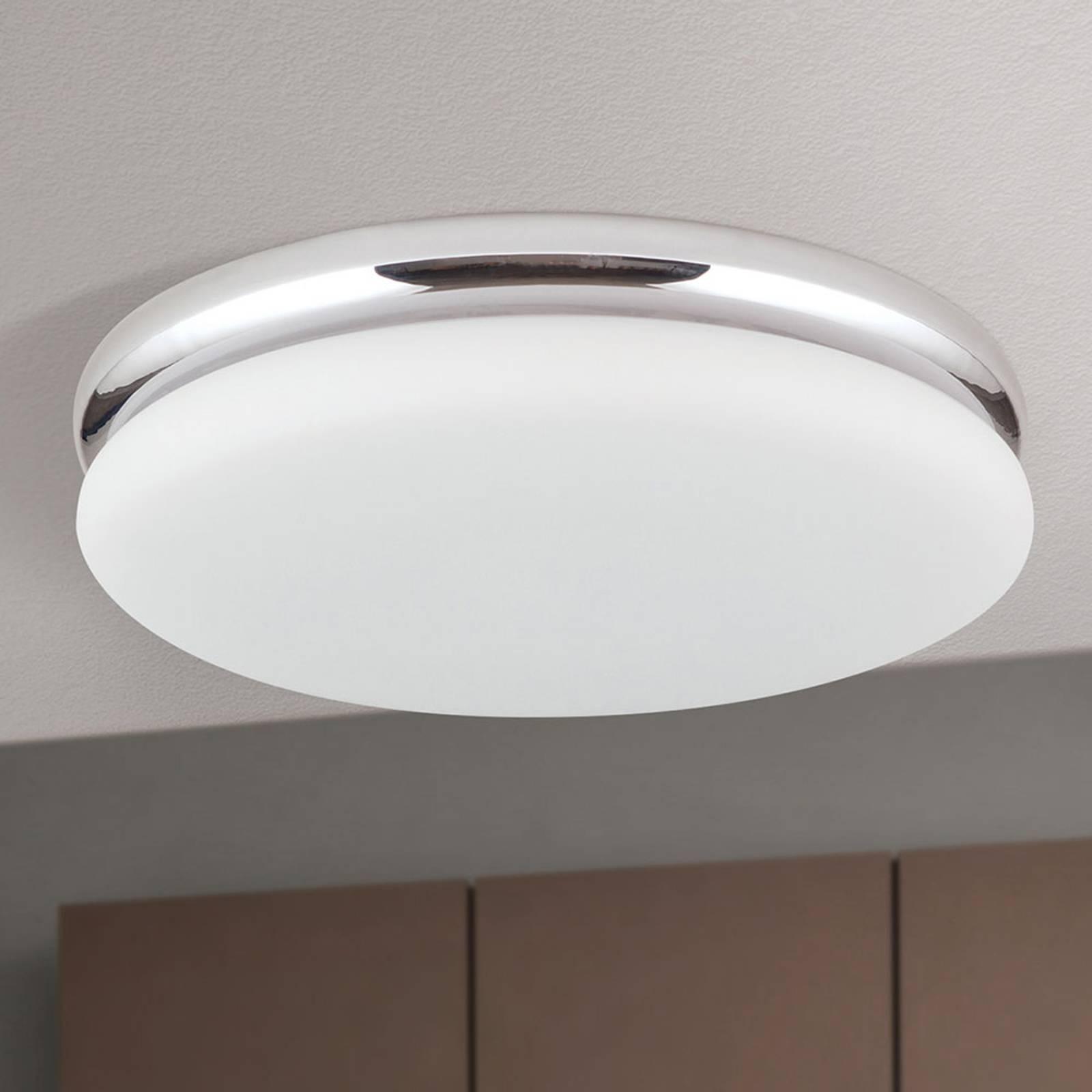 LED-Deckenleuchte James mit Metallgehäuse, chrom