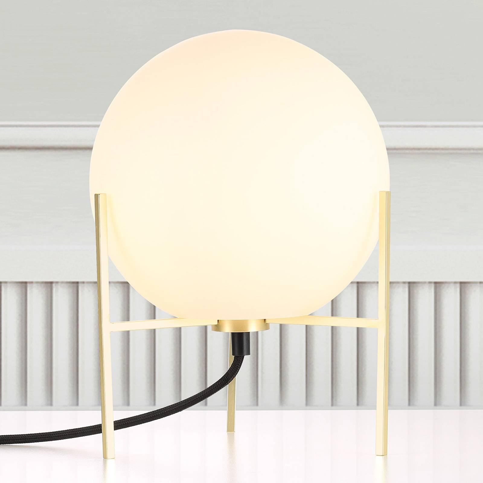 Billede af Alton bordlampe med hvid glasskærm