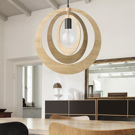 Lámpara colgante Glam con pantalla circular