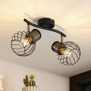Lindby Cornel -kattokohdevalo, 2-lamppuinen