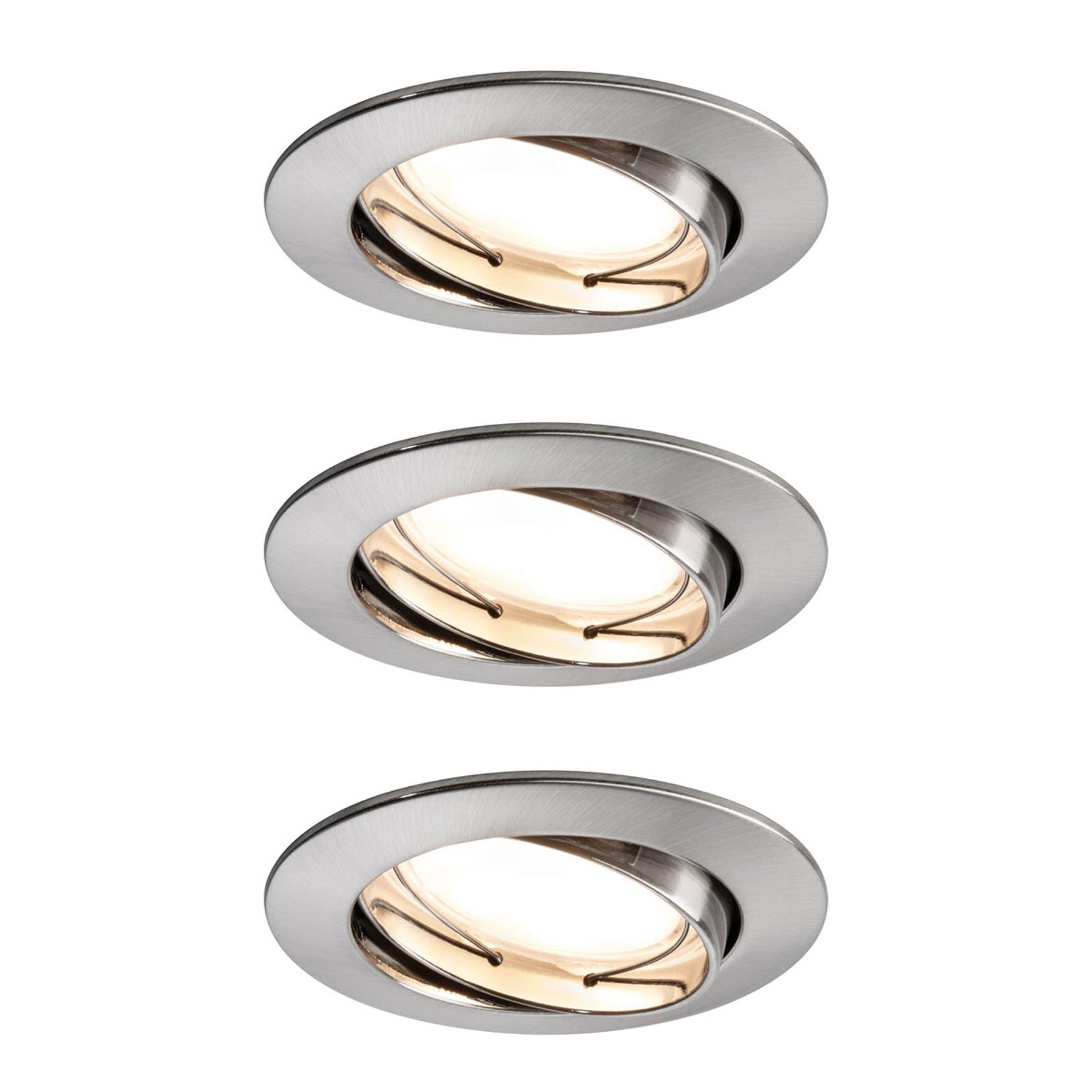 Paulmann LED spot Coin 3x7W dimm-/gezwenkt ijzer