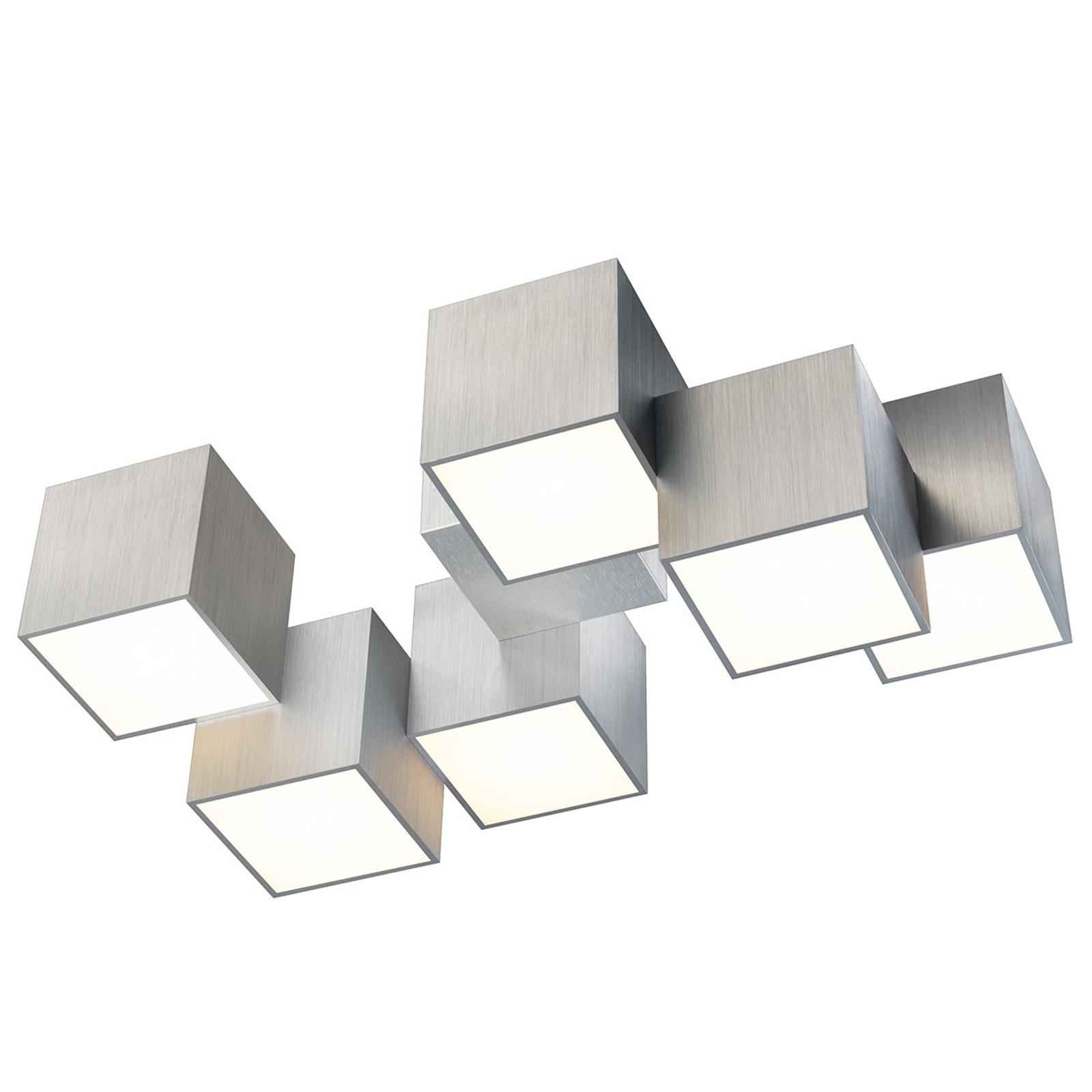 GROSSMANN Rocks plafonnier à 6 lampes aluminium