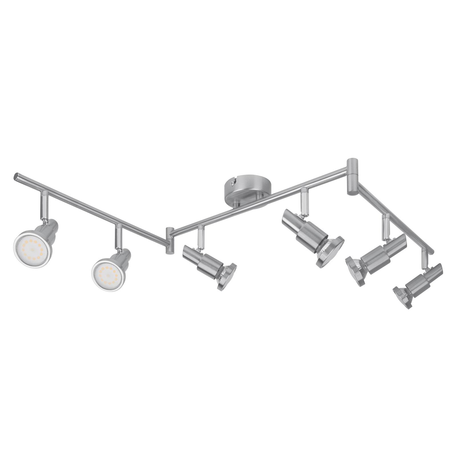 LEDVANCE Niclas LED spot, nikkel, 6-lamps