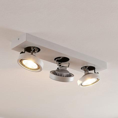 LED-Deckenleuchte Negan in Weiß, dreiflammig