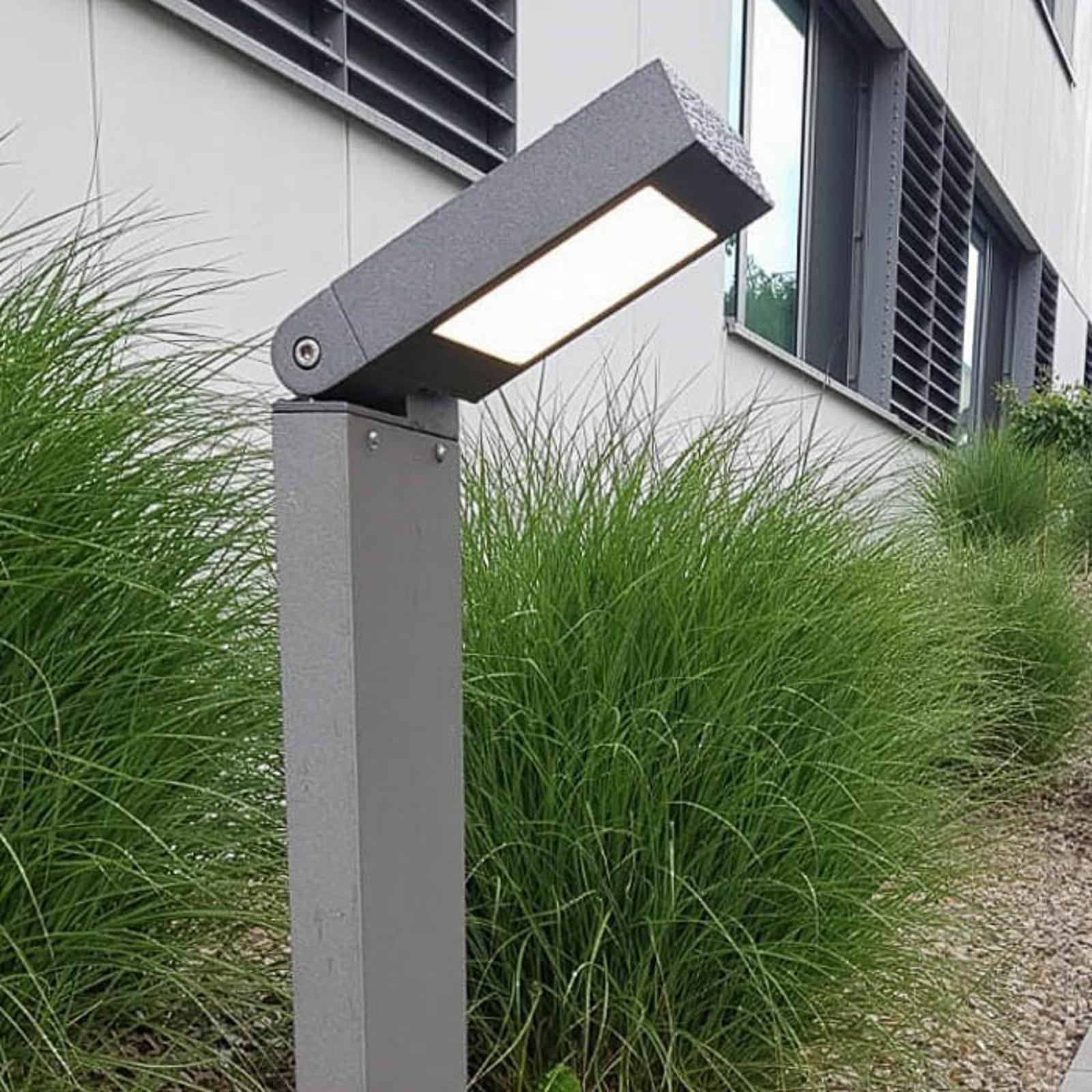 Słupek oświetleniowy LED 2296 wysięgnik, antracyt