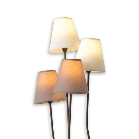 Twiddle - vloerlamp met vier stoffen kappen