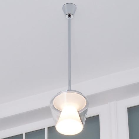 Lámpara colgante LED de diseño Annex con vidrio