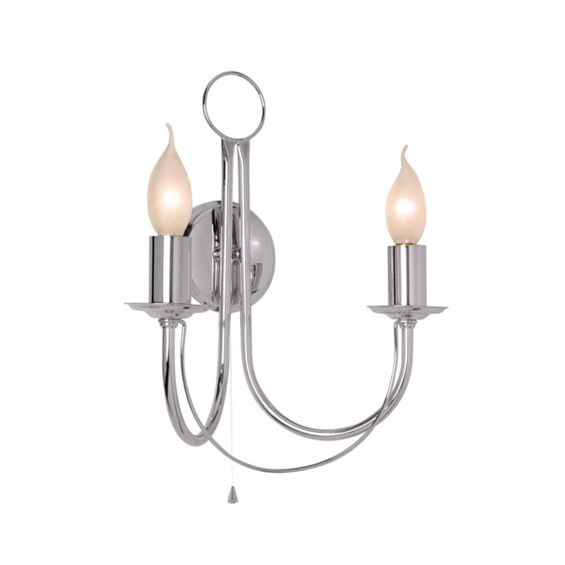 Wandlamp Retro, 2-lamps, chroom