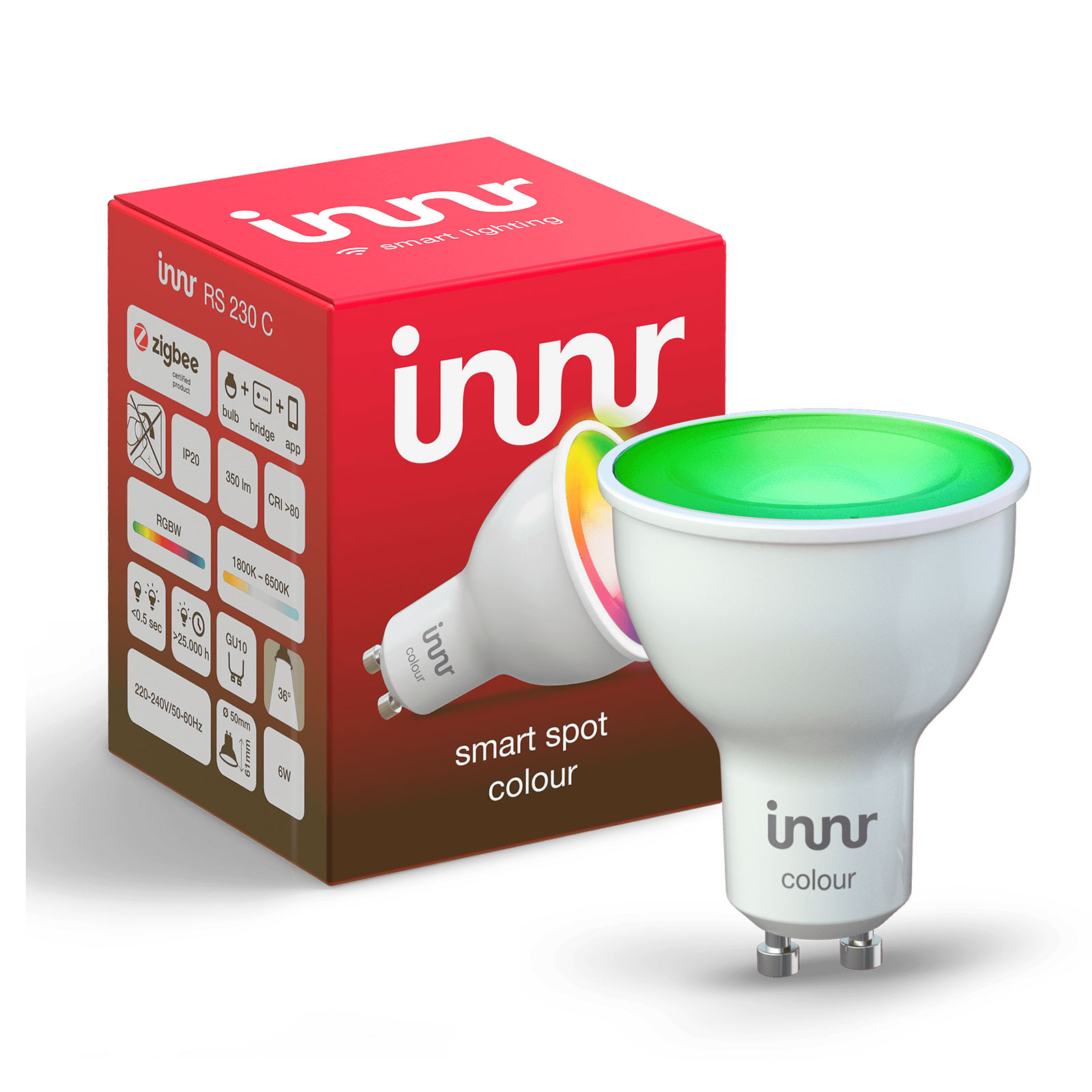 Innr LED-spot GU10 6W Smart RGBW/CCT 350lm dimbar