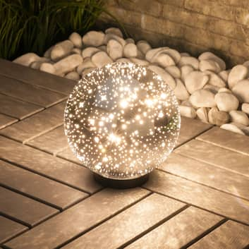 Lindby Kamui LED bola decorativa exterior estrella