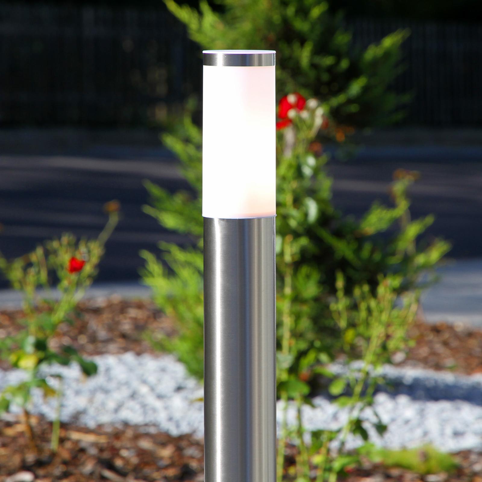 Lampioncino cilindrico Kristof, acciaio inox