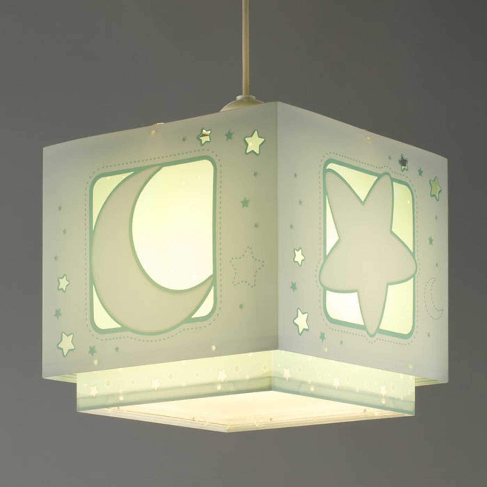 Fluorescerende hanglamp nachtelijke hemel groen