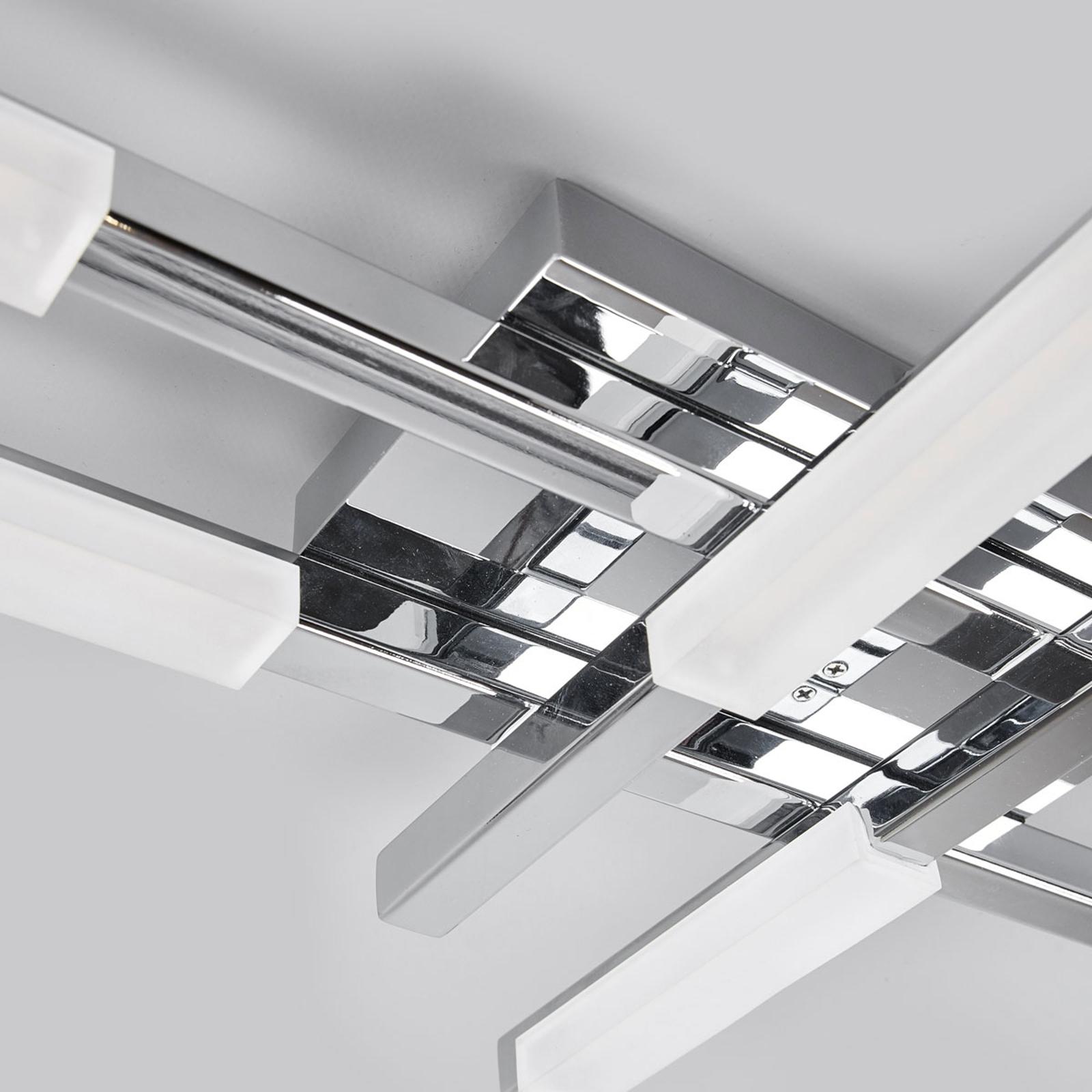 Lampe spritzwassergesch/ützt 6 flammig, A+, inkl. Leuchtmittel - Bad Deckenleuchte Modern Lampenwelt LED Deckenlampe Patrik Badezimmerleuchte in Chrom aus Metall u.a f/ür Badezimmer