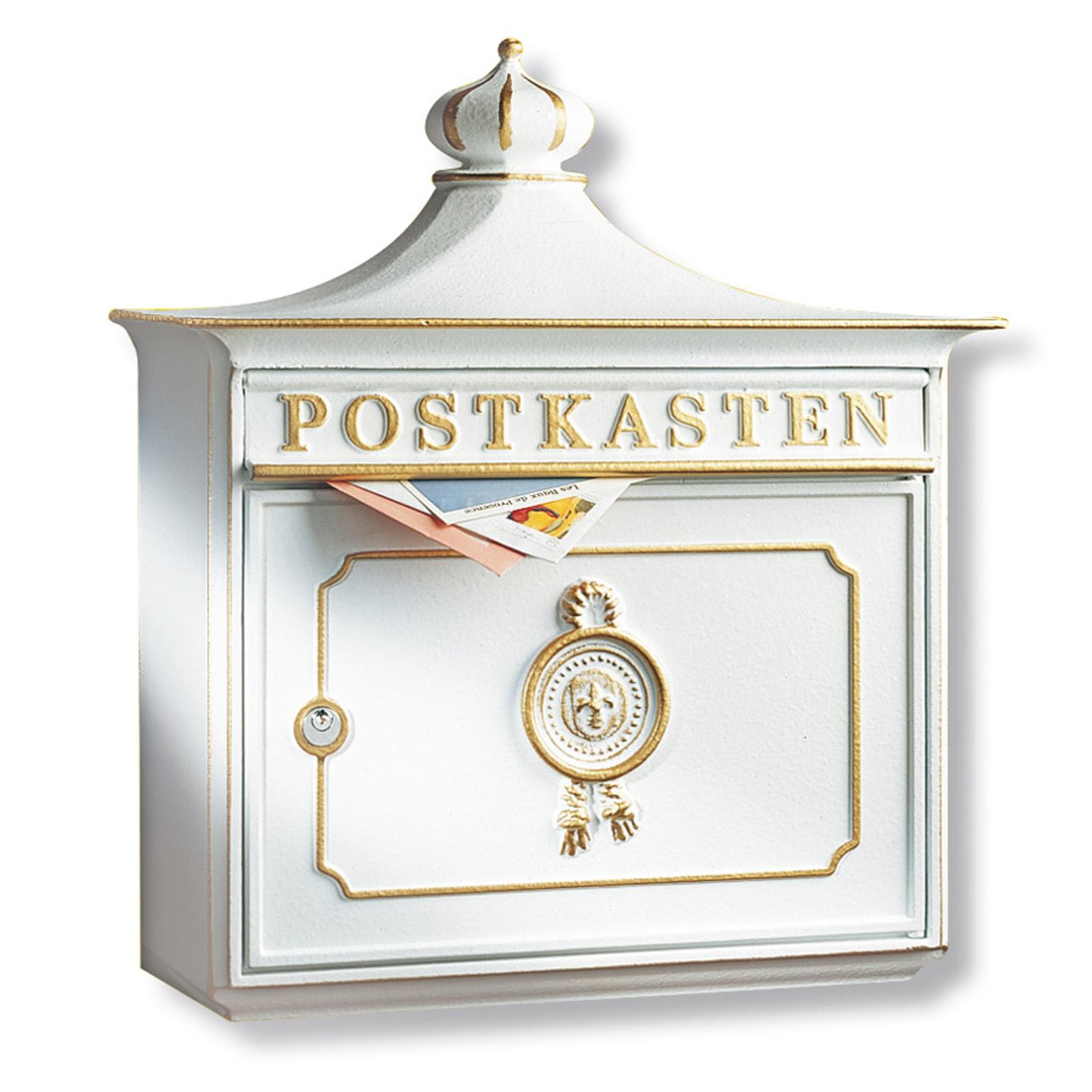 Bordeaux poštovní schránka hliníkový odlitek bílá