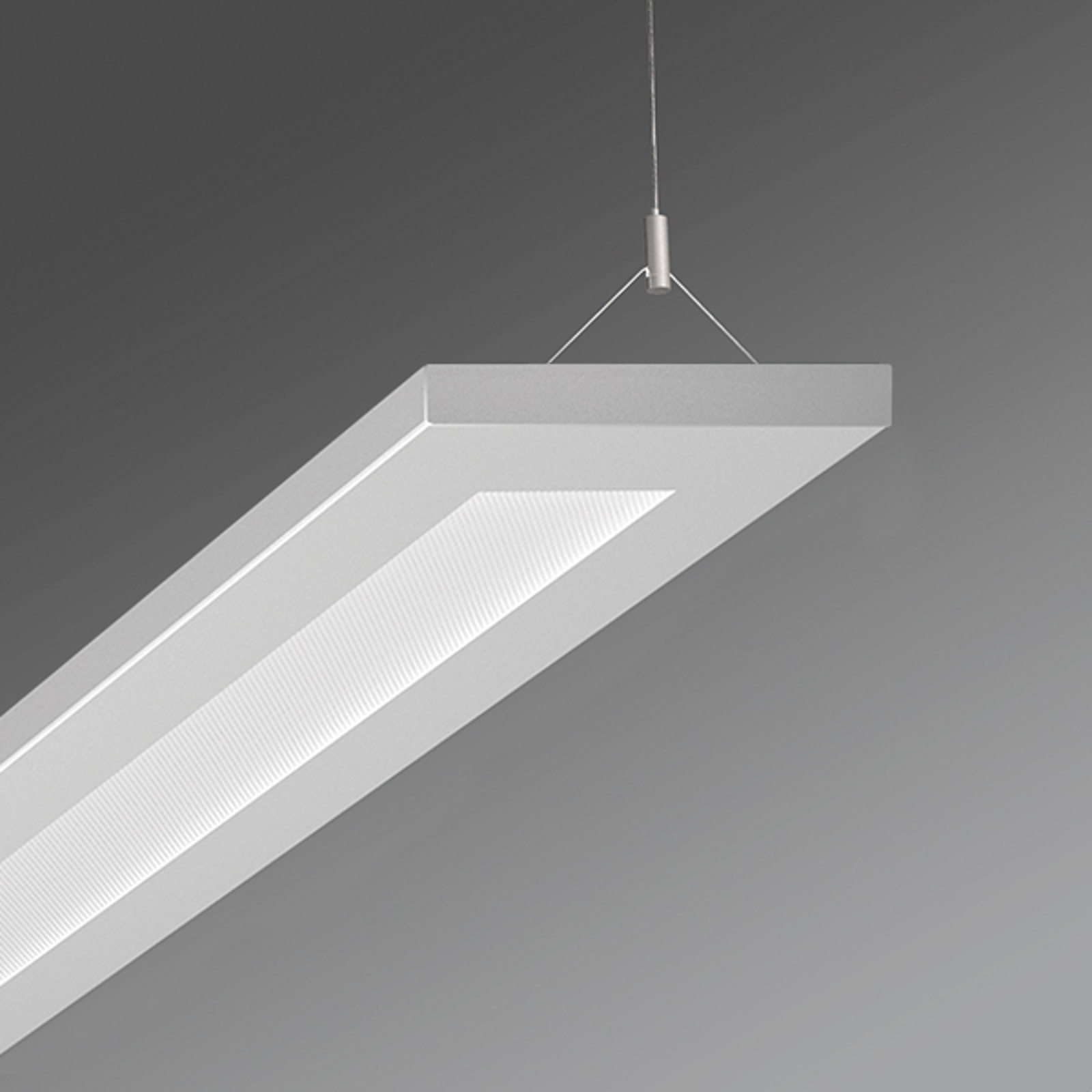 Kantoor hanglamp Stail LED microprisma 52W wit alu