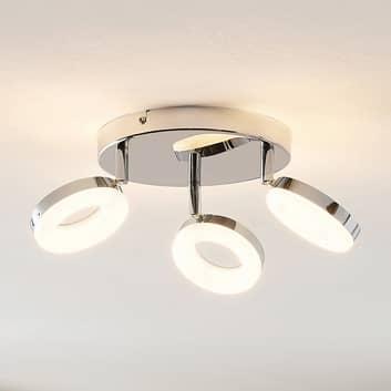 ELC Tioklia plafonnier LED chromé à 3 lampes