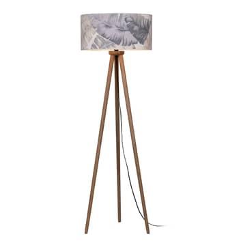 Gulvlampe Lobos med trykket lampeskjerm