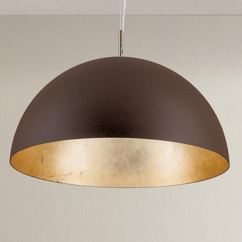 Lámpara colgante Nerry de color marrón-dorado