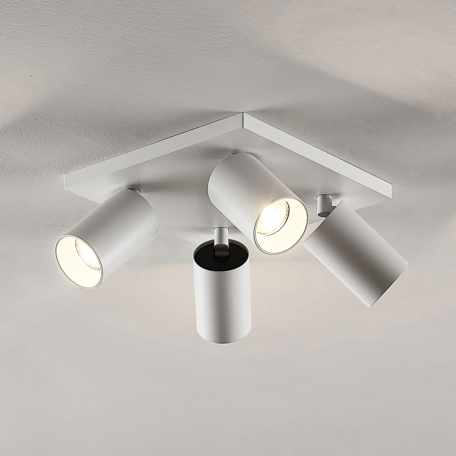 Spot Brinja, GU10, wit, 4-lamps