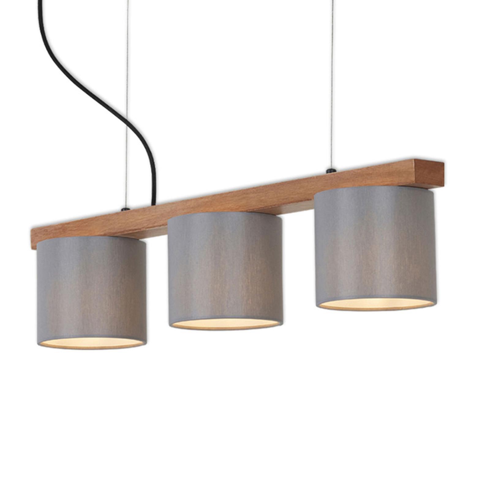 Pendellampe Wood & Style 4075, dreiflammig