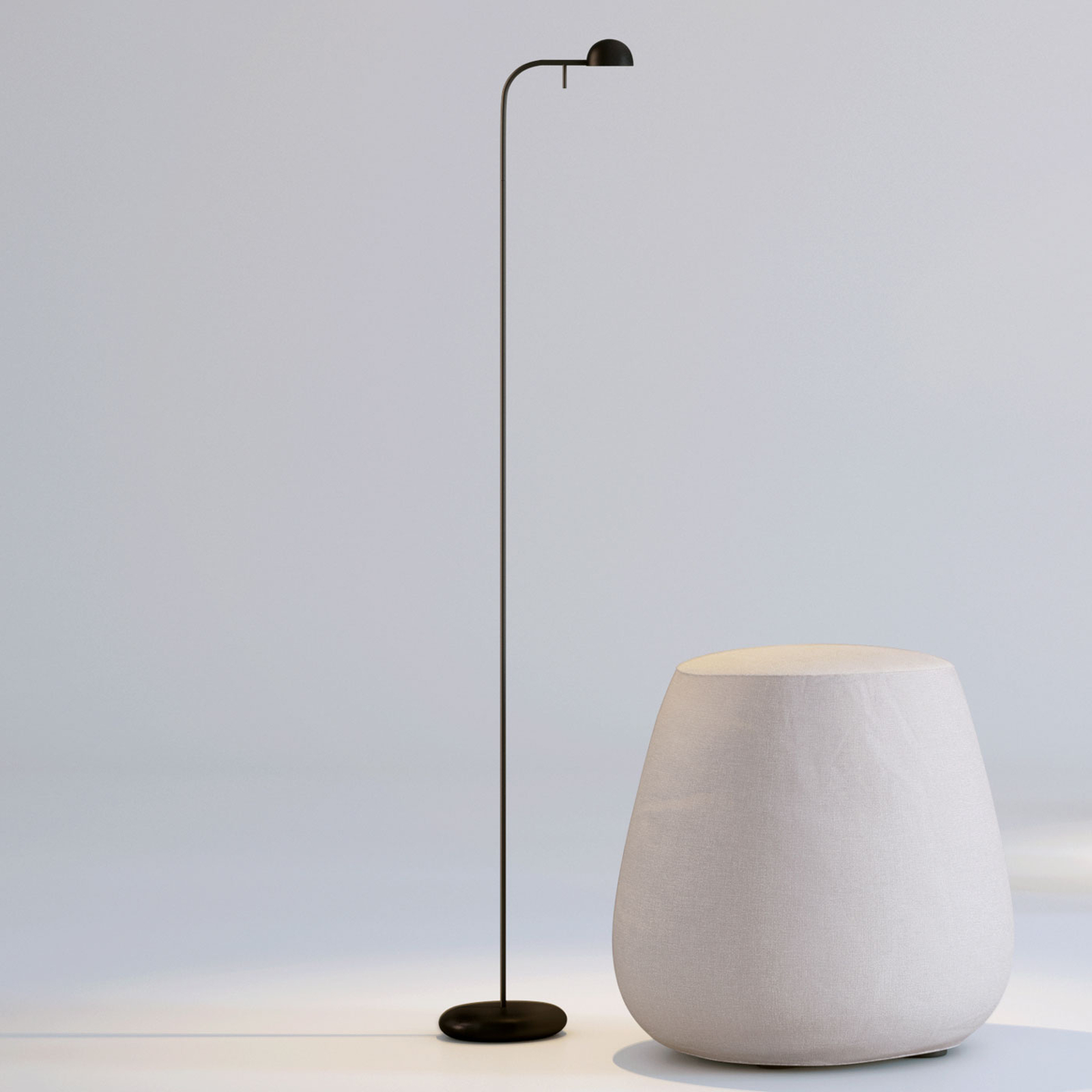 Vibia Pin 1660 lampa stojąca LED, 125 cm, czarna