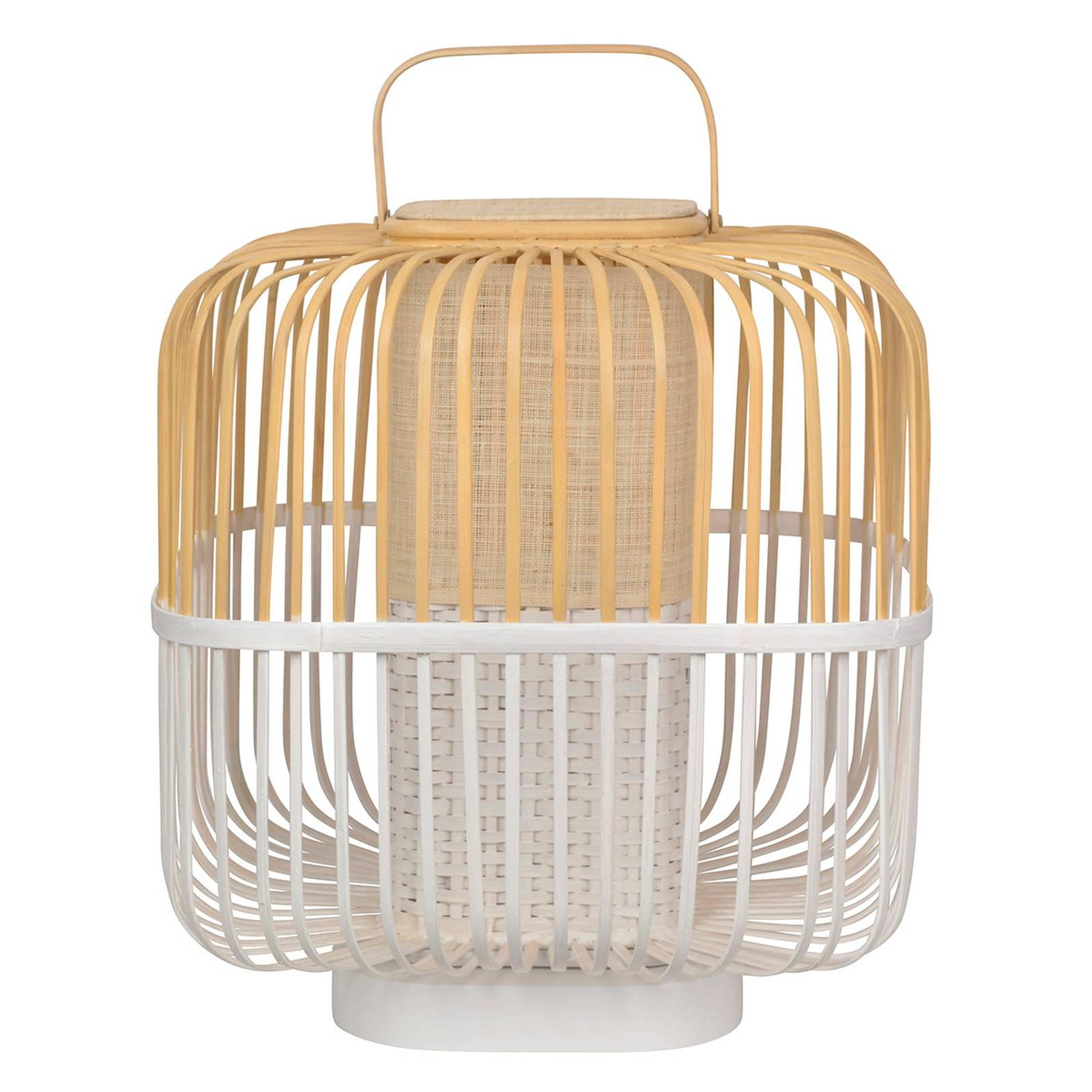 Forestier Bamboo Square M tafellamp in wit