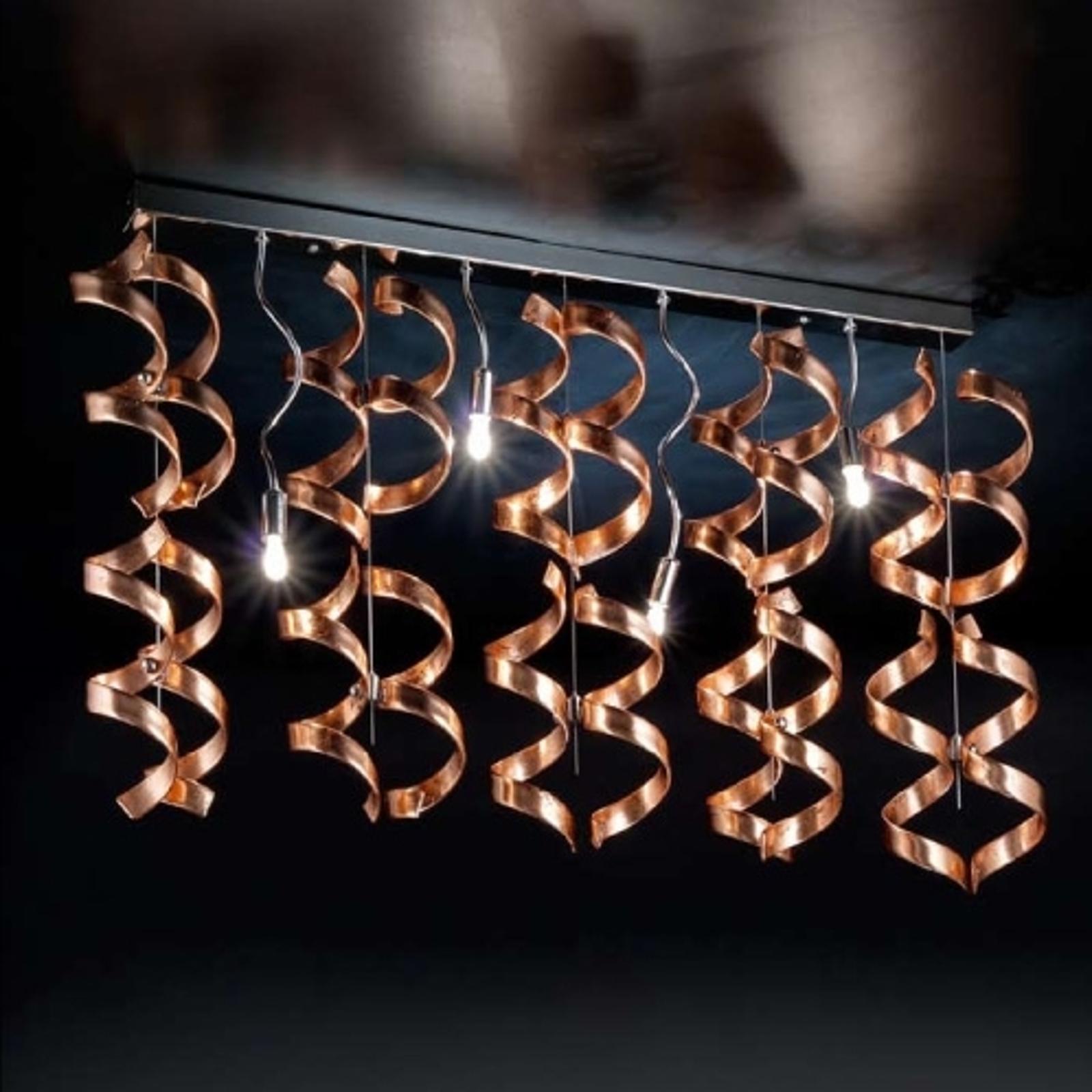 Spiralna lampa sufitowa Copper