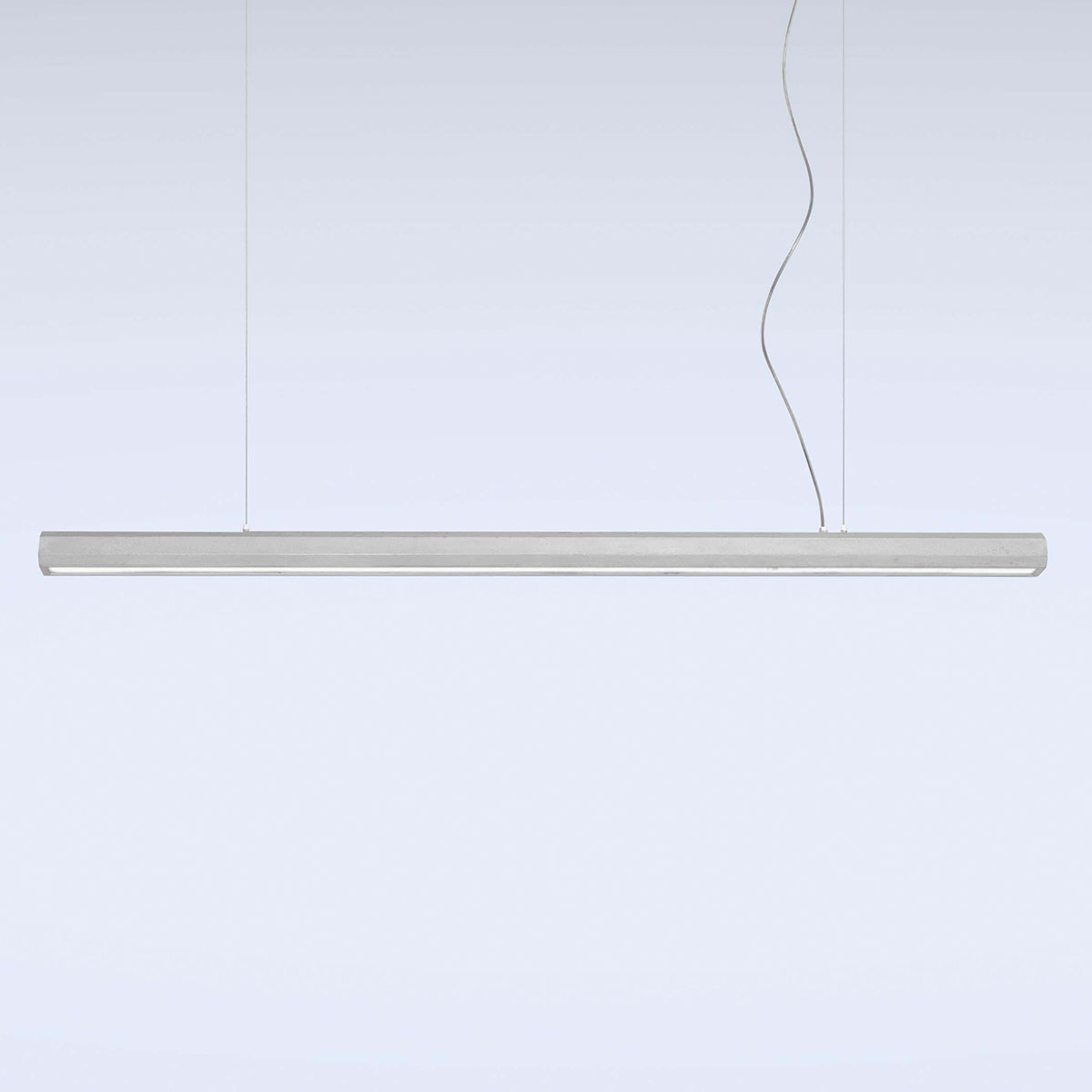 Lampa wisząca LED Materica belka 150 cm beton