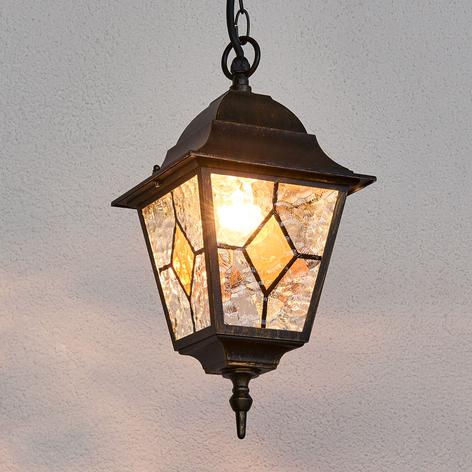Lámpara colgante exterior Jason, cristal de plomo
