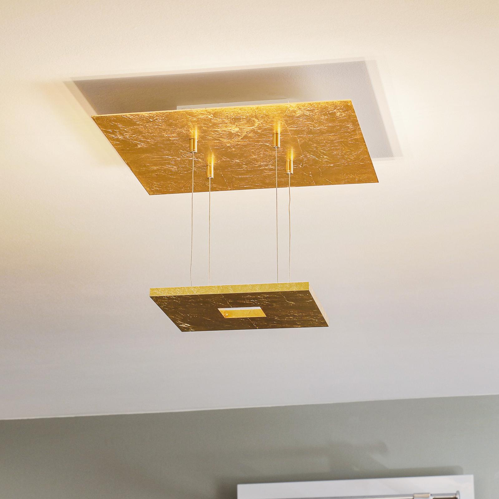 Escale Zen - LED-loftlampe med bladguld