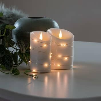 LED-Wachskerze weiß Lichtfarbe Warmweiß