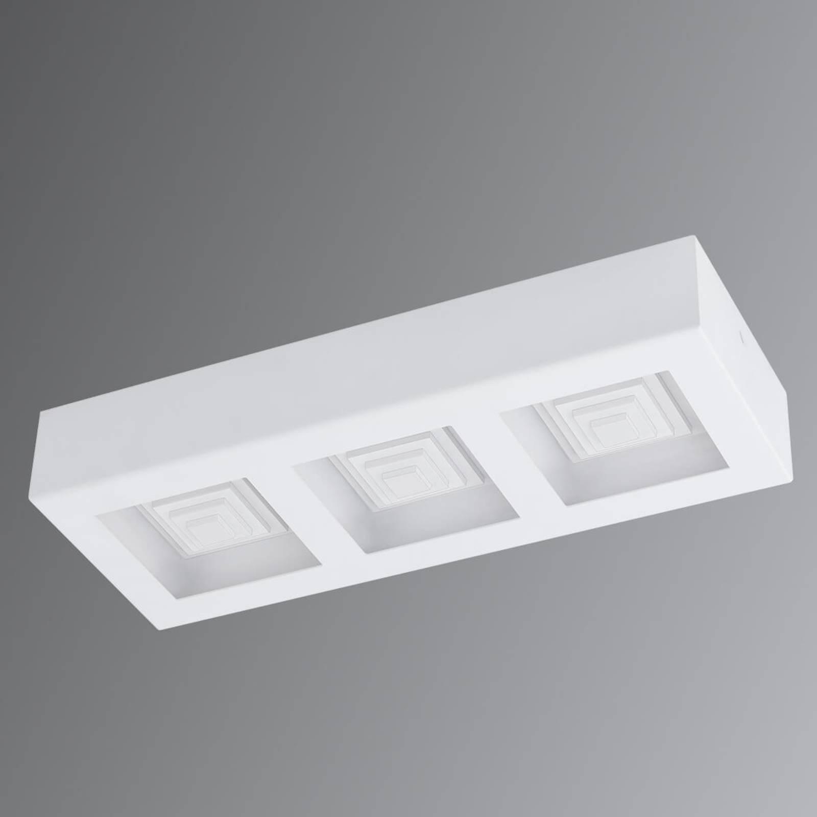 Ferreros - 3-lamps LED plafondlamp in wit