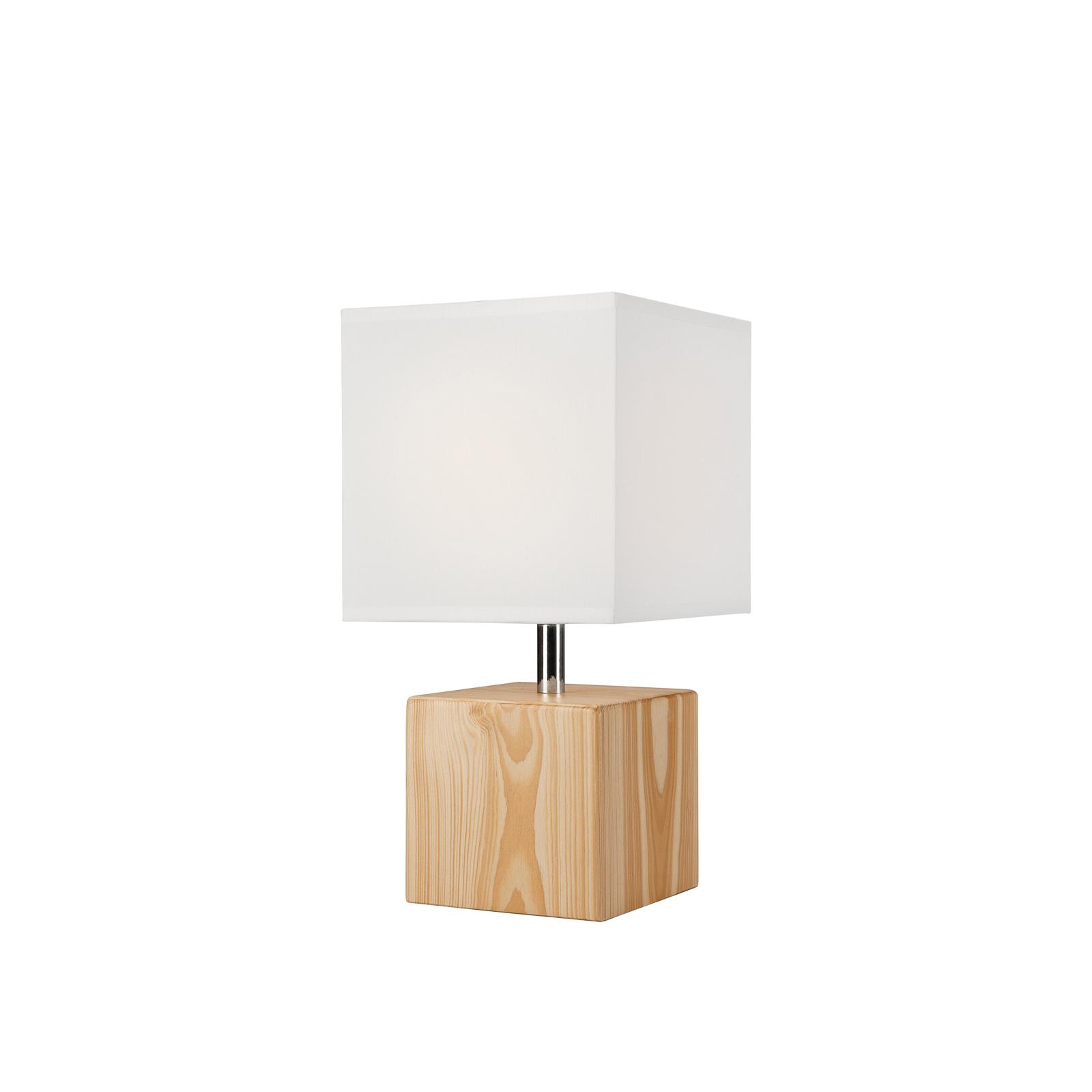 Lampe à poser Faxa, cubique, naturel/blanc