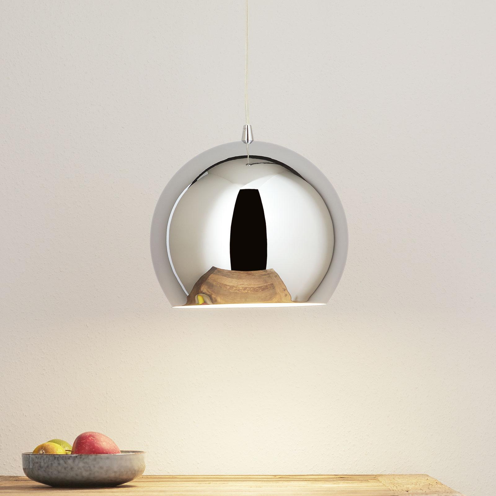 Hanglamp Bulle, chroom