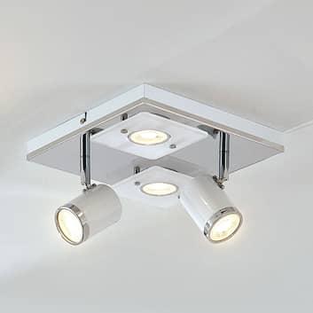 LED-taklampe Alsuna med 4 lyskilder - 24x24cm