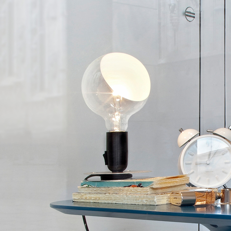 FLOS Lampadina -LED-pöytälamppu, musta