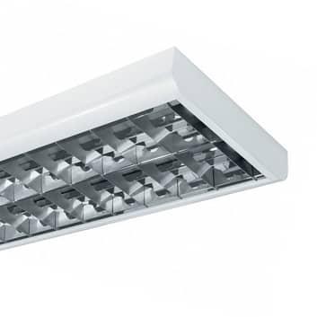 Luminaria con rejilla plana T8 BAP 58 W 2 luces