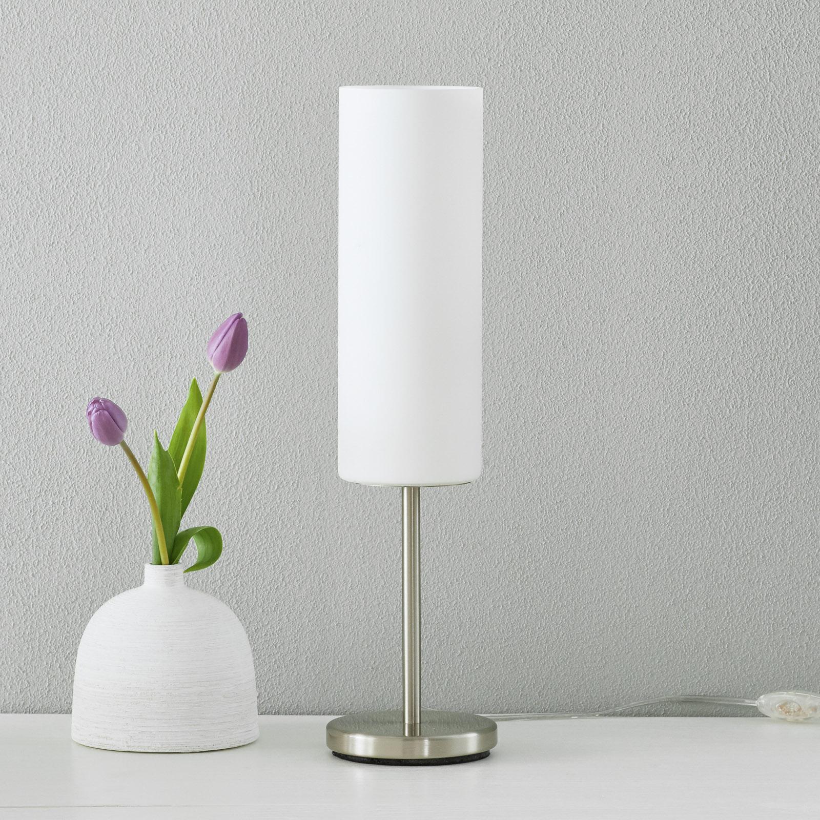 Charmante lampe à poser TROY blanc