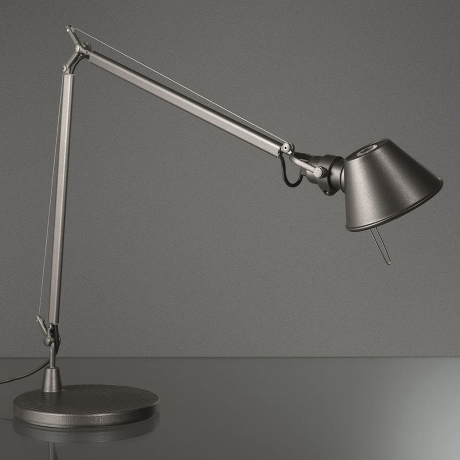 Artemide Tolomeo Midi LED-bordslampa, 3 000 K grå