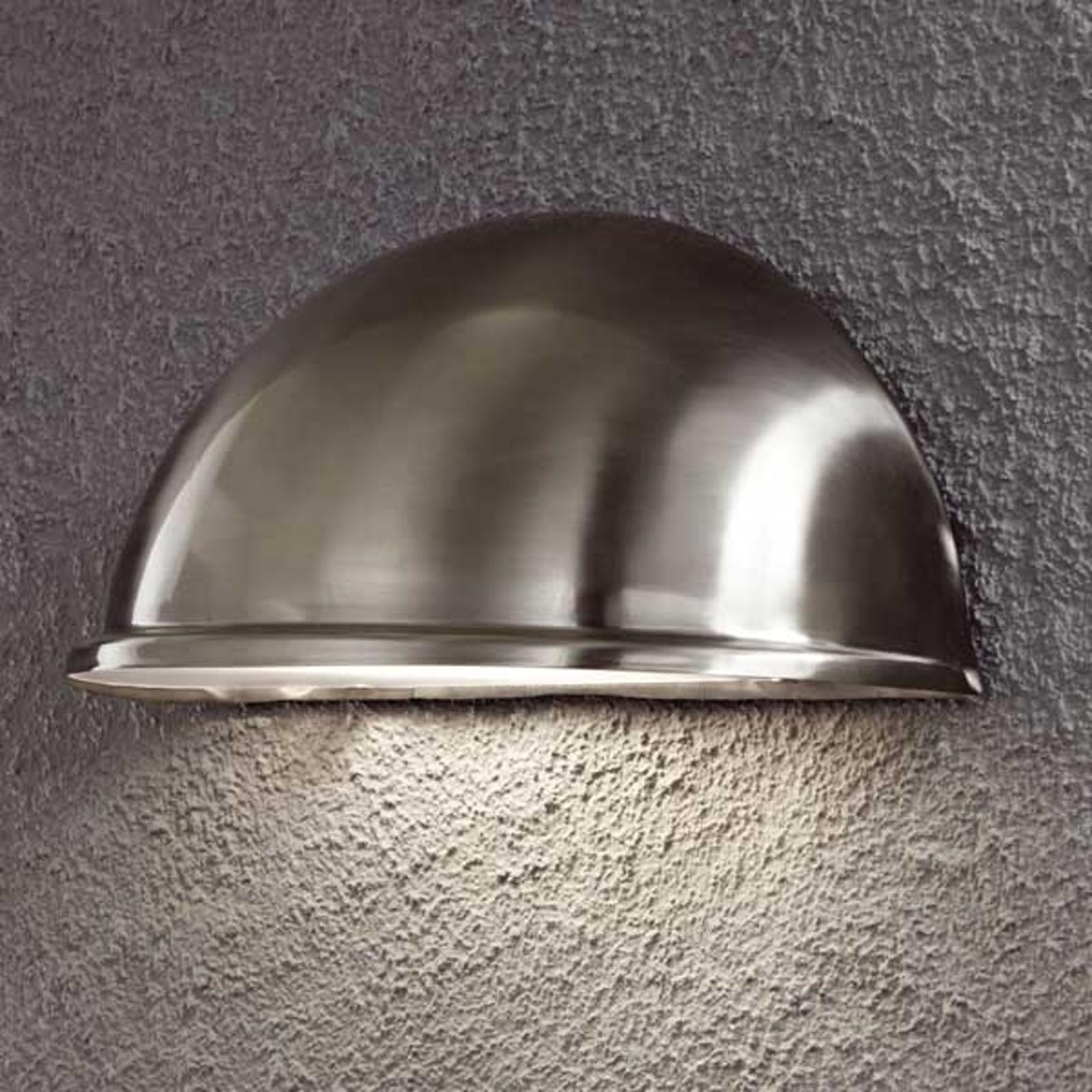 Solide buitenwandlamp TORINO E27, rvs