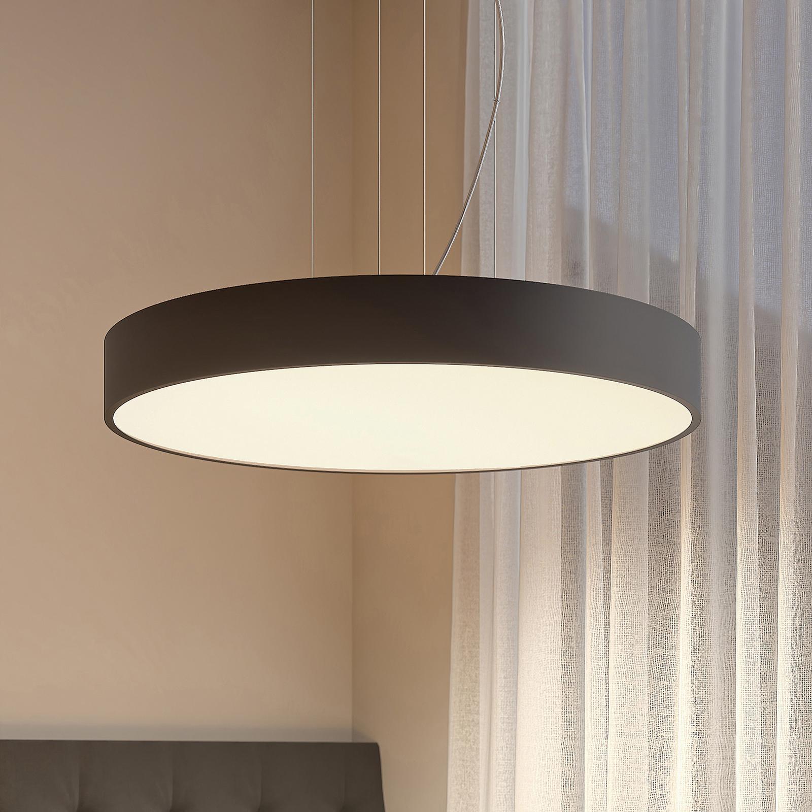 Arcchio Noabelle LED-Hängelampe, schwarz, 80 cm