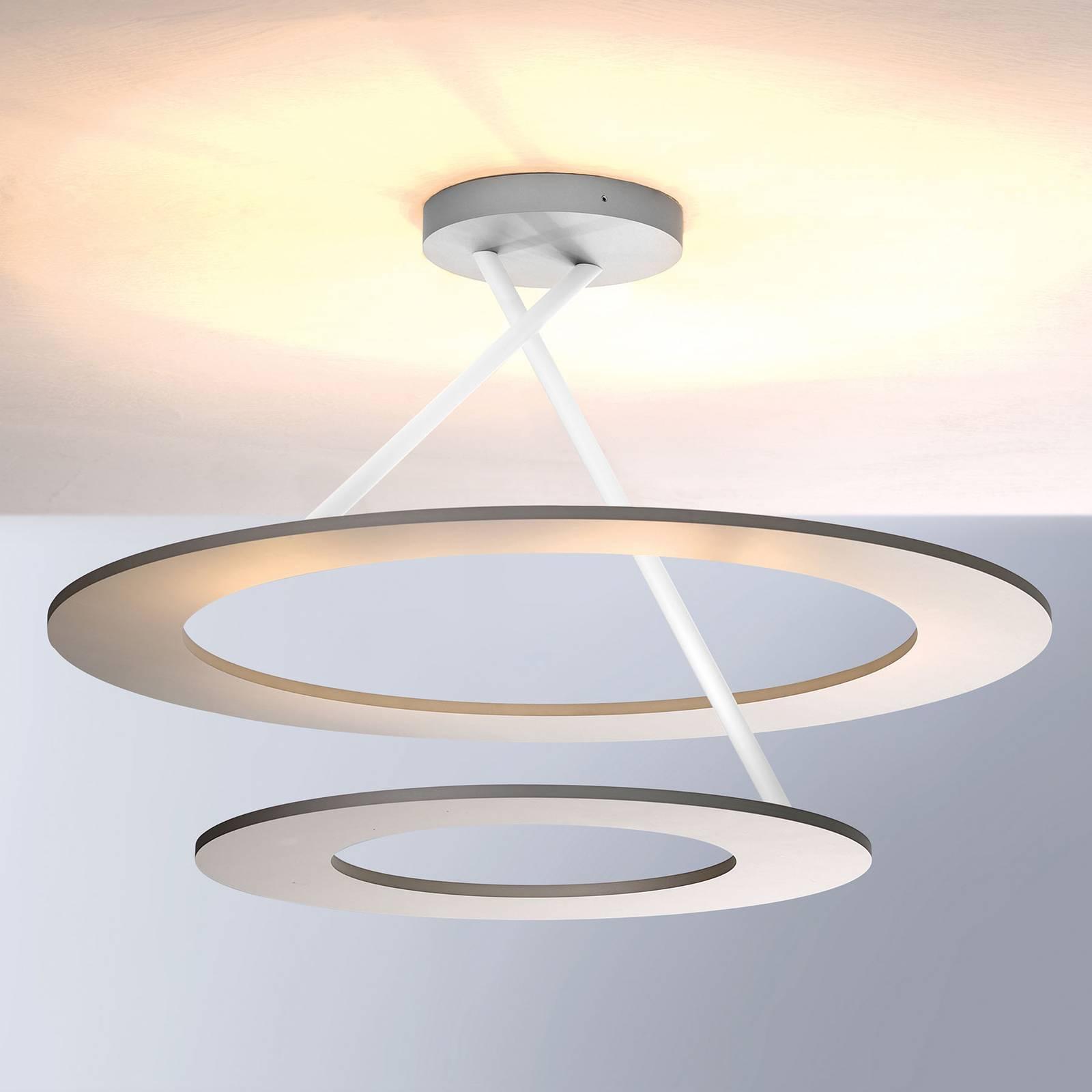 Bopp Stella lampa sufitowa LED 2 pierścienie biała