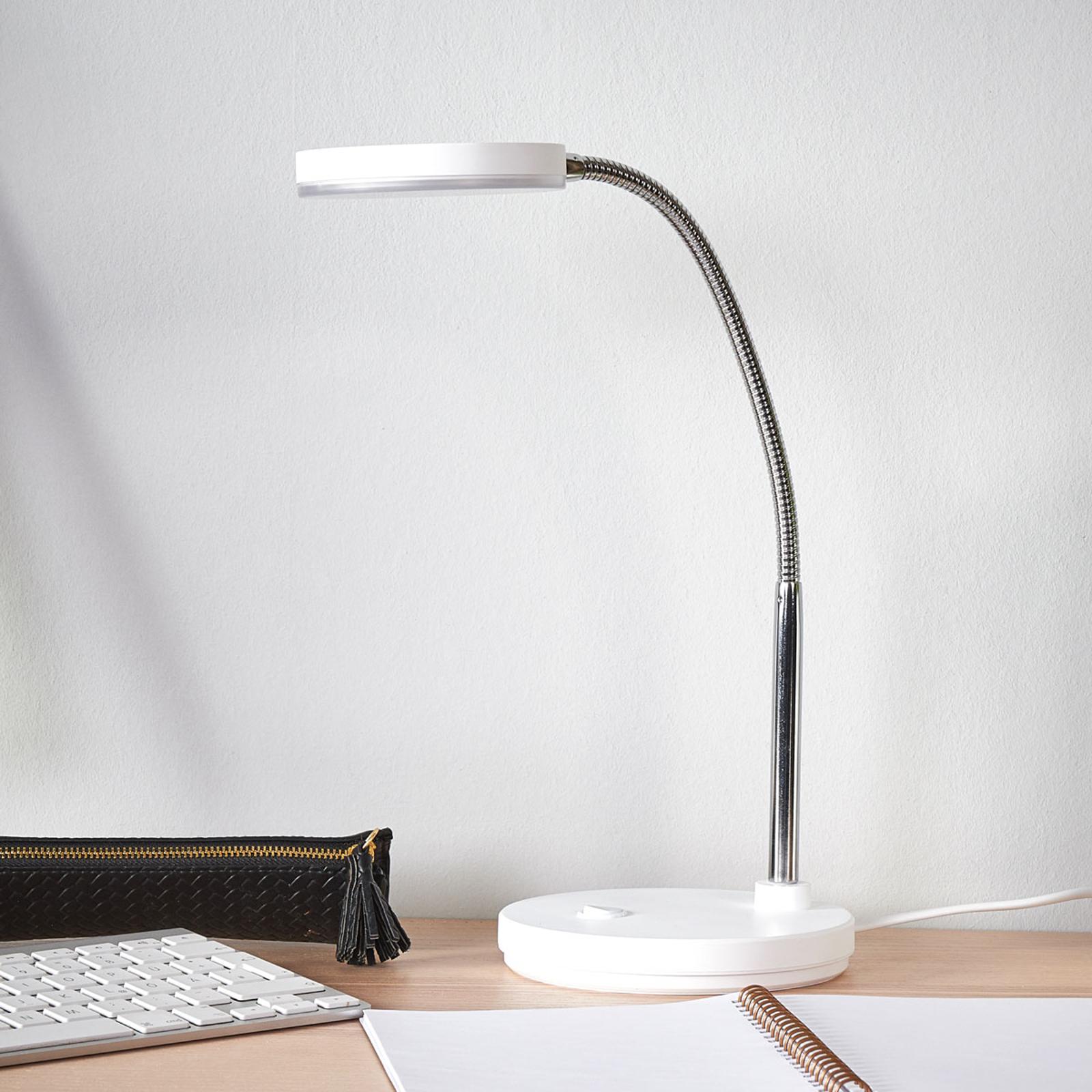Witte led schrijflamp Milow
