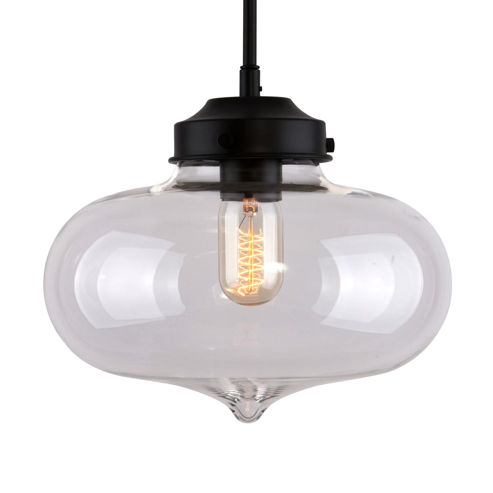 Lampa wisząca LA005 E27 szklany klosz serce