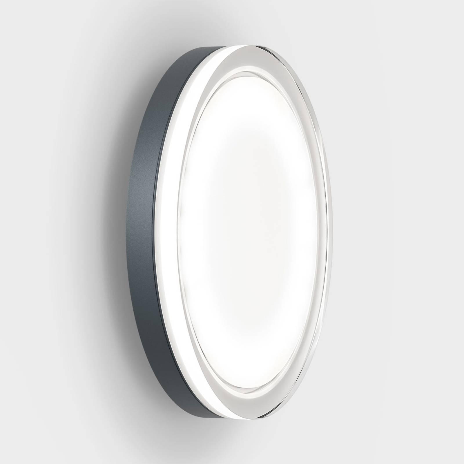 IP44.de lisc LED buitenwandlamp, antraciet