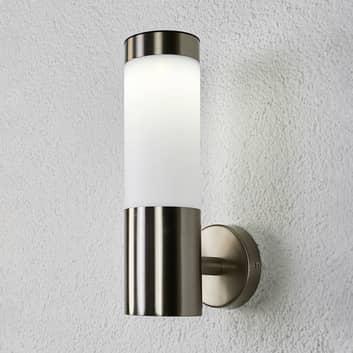Lámpara solar LED Aleeza cilíndrica, acero inox.